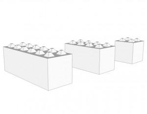 Bloc beton type lego