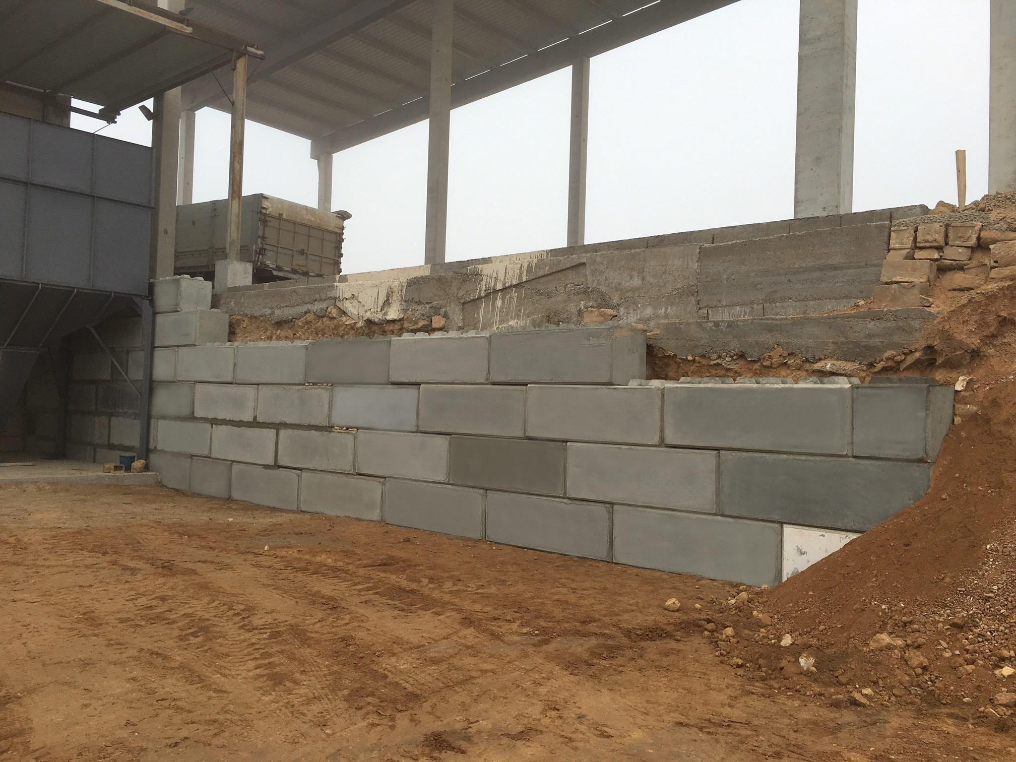 mur bloc béton